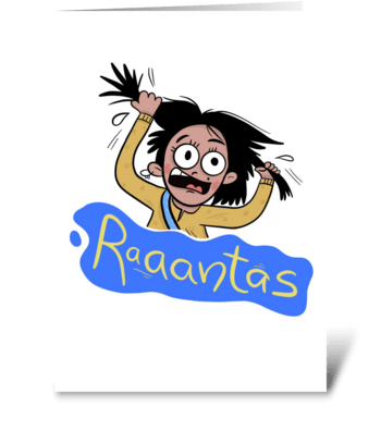 Raantas greeting card