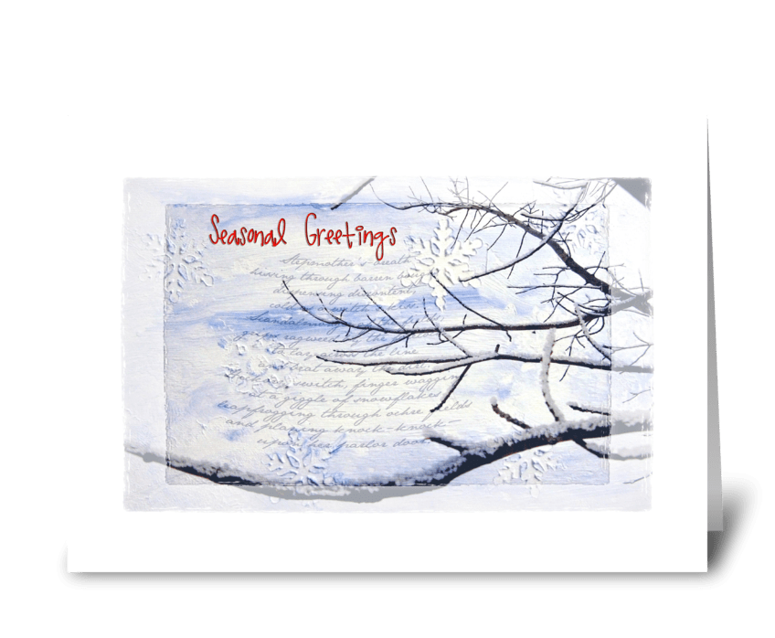 Seasonal Greetings greeting card