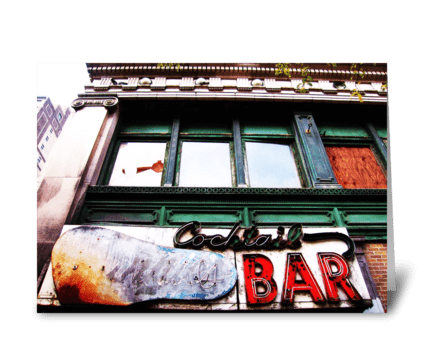 Detroit Cocktail Bar greeting card