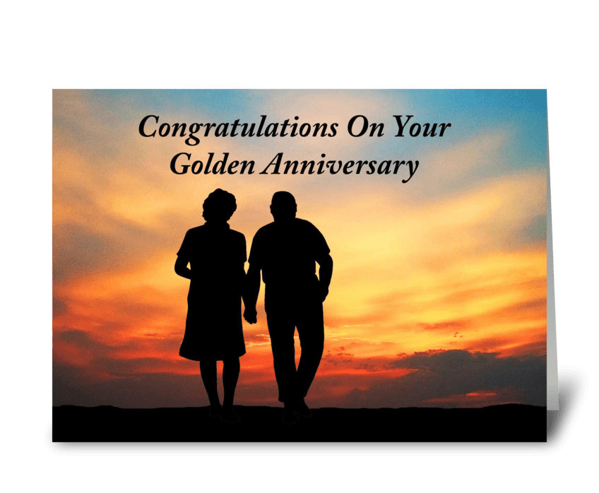 Congratulations On Golden Anniversary greeting card