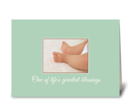 Life's Greatest Blessings -Baby Congrats greeting card
