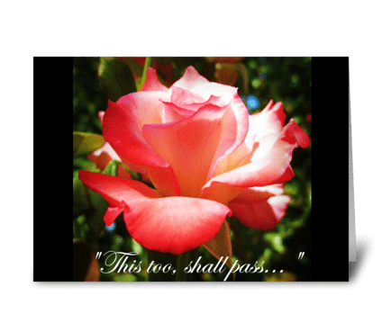 Rose Sympathy Card greeting card