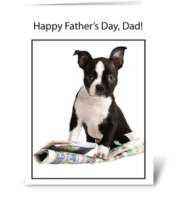 From Dog Father's Day Newspaper Humor greeting card
