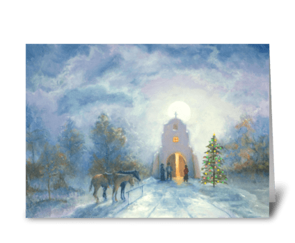 Cottonwood Christmas greeting card