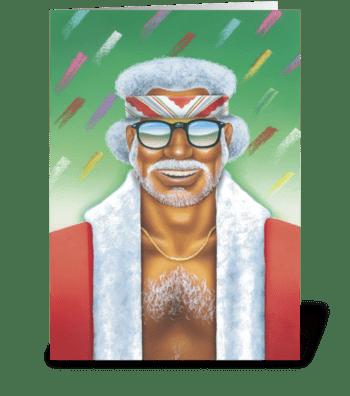 Cool Yule greeting card