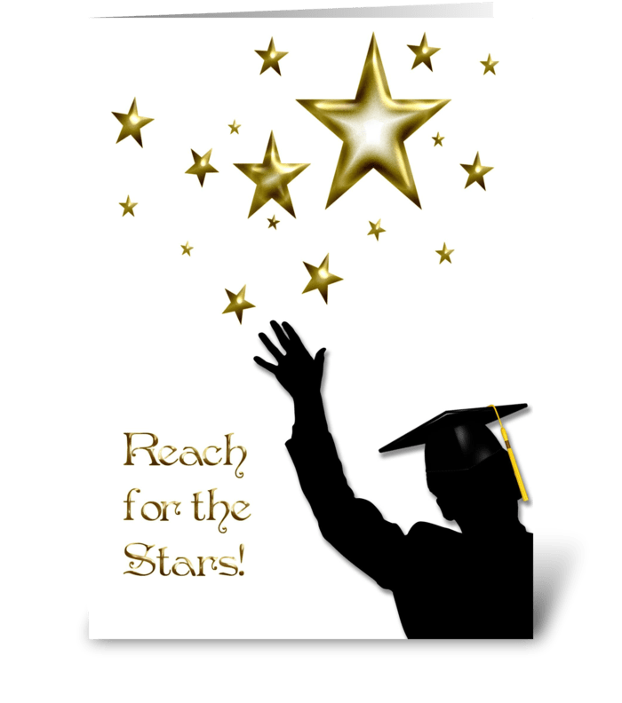 Graduate Congratulations Stars Male  greeting card