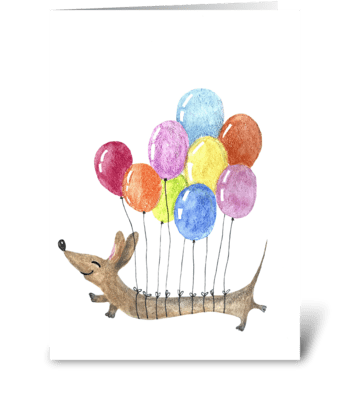 Flying to the dream greeting card