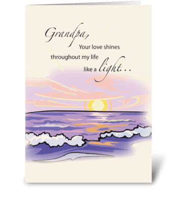 Grandfather Light Grandparents Day greeting card