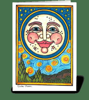 Sister Moon greeting card
