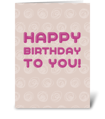 Dusky pink birthday card greeting card