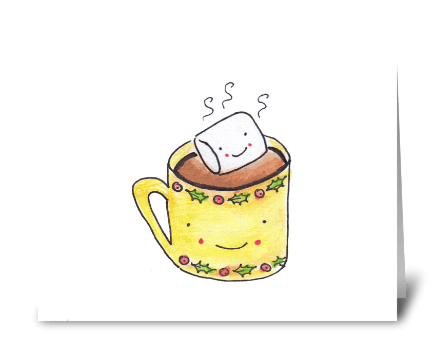 Cocoa & Mallow greeting card