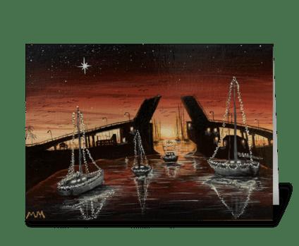Old Kemah Drawbridge  greeting card