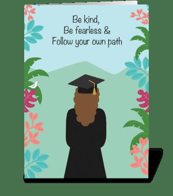 Girl Grad greeting card