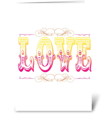 Big LOVE greeting card