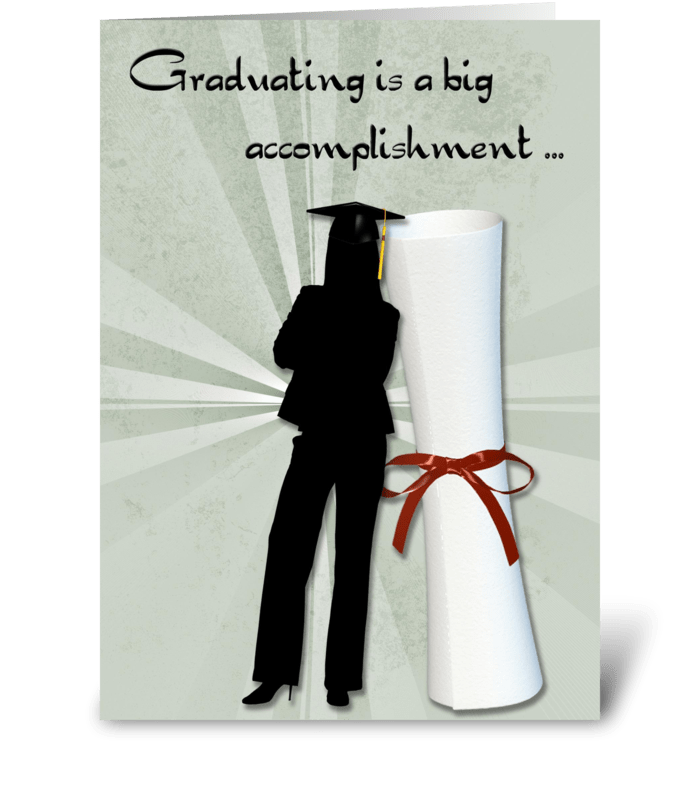 Graduate Girl, Diploma, Congratulations greeting card