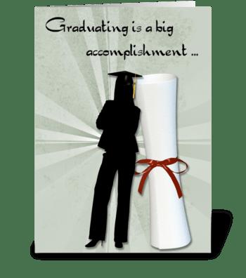 Graduate Girl, Diploma, Congratulations greeting card