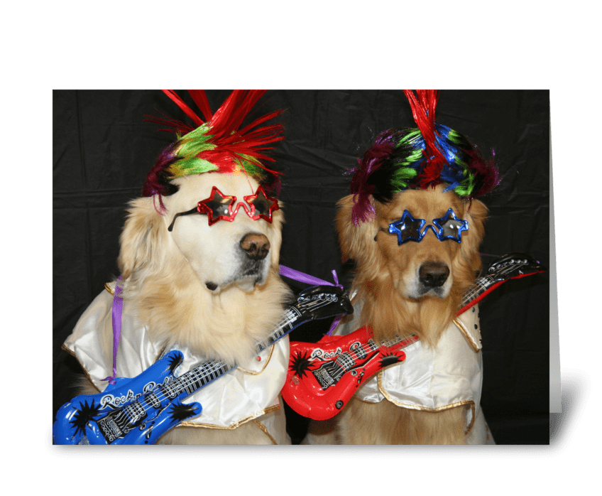 Rock Star Birthday greeting card