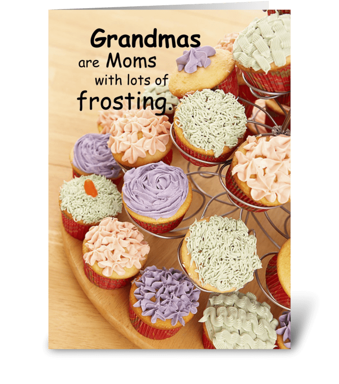 Grandmother, Mother's Day, Cupcakes greeting card