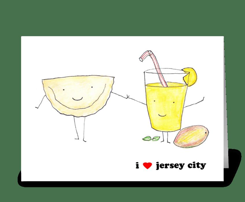 I Love Jersey City greeting card