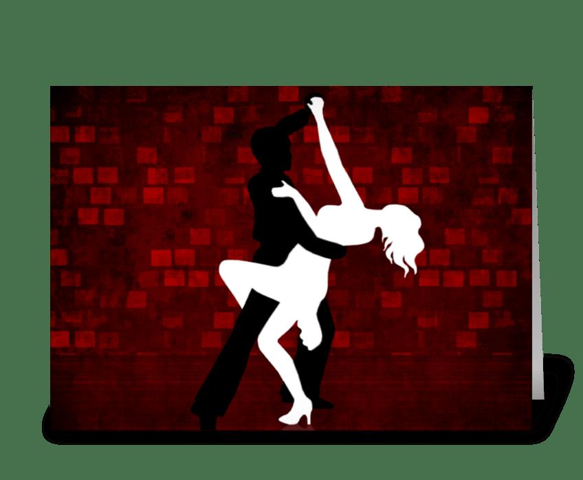 Tango Series 3 greeting card