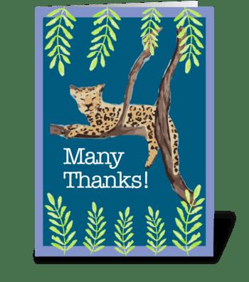 Many Thanks Jaguar greeting card