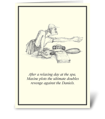 Doubles Revenge greeting card