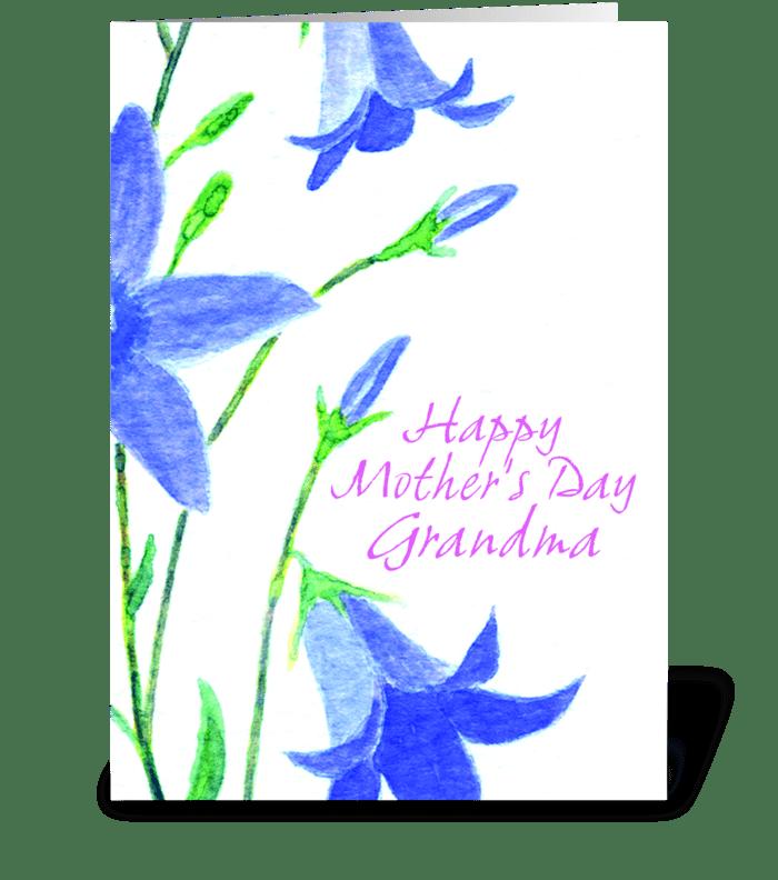 Love for Grandma greeting card