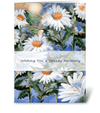 Get Well, Daisy Art Greeting greeting card
