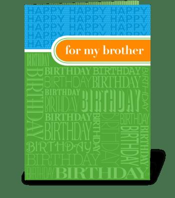 Brother Birthday greeting card
