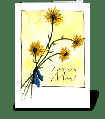 Black-eyed Susan's greeting card