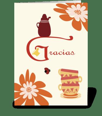 Hospitality Cups - Gracias greeting card