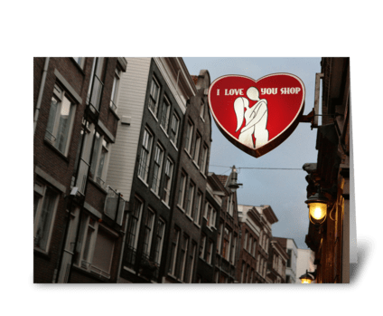 I Love You Shop Amsterdam greeting card