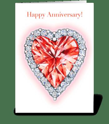 Ruby Wedding greeting card