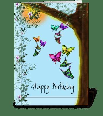 Springtime, Birthday Card greeting card