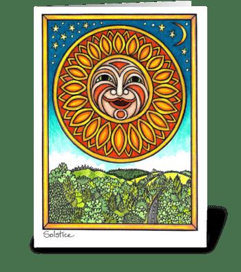 Solstice greeting card