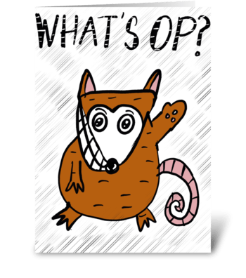 What's Op? greeting card