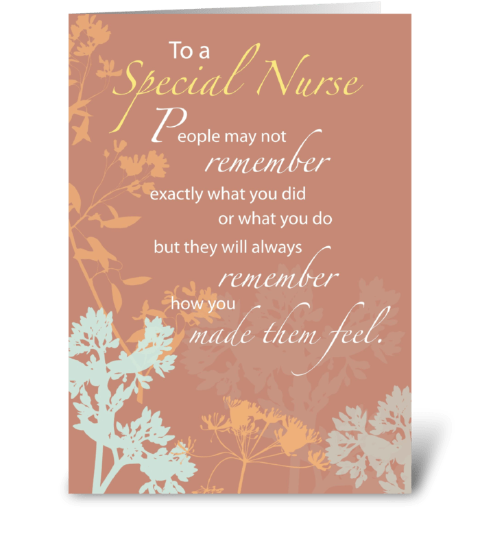 Happy Nurses Day, Brown with Wildflowers greeting card