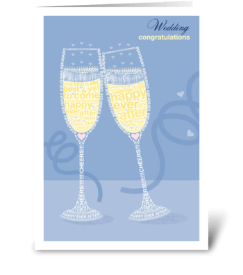 Happy Ever After Champagne greeting card