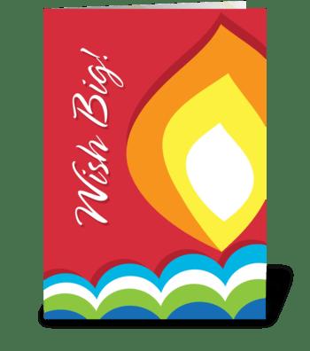 Birthday Flame greeting card