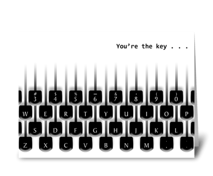 Retro Typewriter Keys - Admin Pro Day greeting card