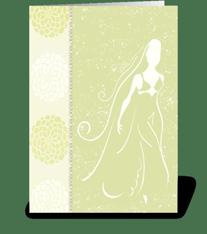 Bride Series 1 Full greeting card