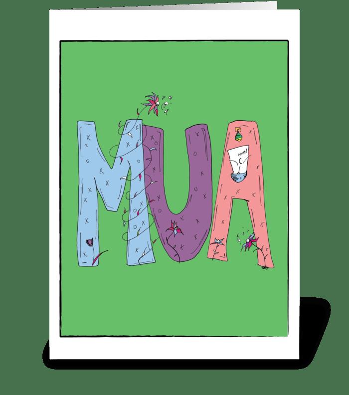 MUA greeting card
