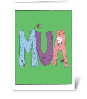 MUA greeting card