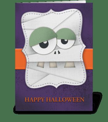Happy Halloween (Mummy) greeting card