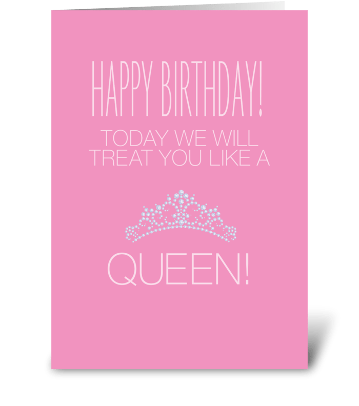 birthday queen  send this greeting card designed