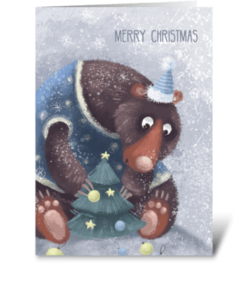 Preparation for the holiday  greeting card
