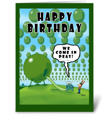 We Come in Peas Birthday card greeting card