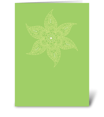 Modern Bazaar 2 Green greeting card