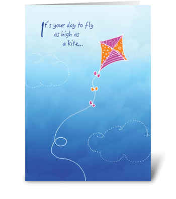 Kite Birthday Card greeting card