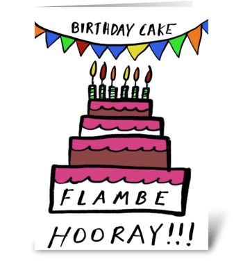 Flambe Hooray greeting card